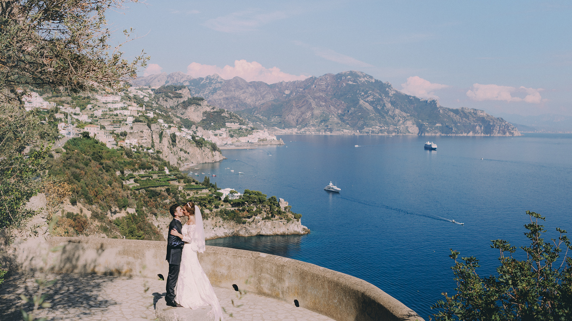 wedding photo in Amalfi Coast