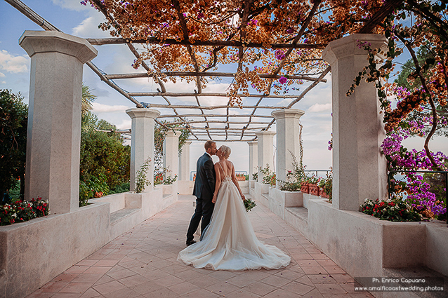 wedding photo in Villa Rufolo